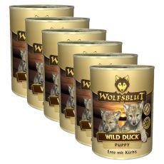 Nassfutter WOLFSBLUT Wild Duck PUPPY, 6 x 395 g