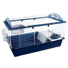 Käfig für Hasen und Meerschweinchen CASITA 120, dunkelblau
