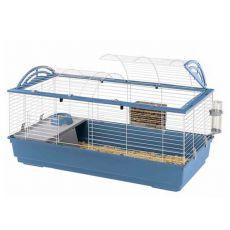 Käfig für Hasen und Meerschweinchen CASITA 120, blau