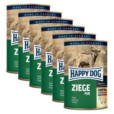 Happy Dog Pur - Goat / Ziege, 6 x 400g, 5+1 GRATIS