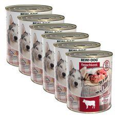 New BEWI DOG Feuchtnahrung – Rindfleisch 6 x 800g, 5+1 GRATIS