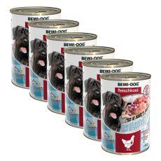 New BEWI DOG Feuchtnahrung – Geflügelherzen 6 x 400 g