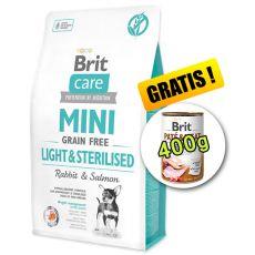 Brit Care Mini Grain Free Light & Sterilised 2 kg