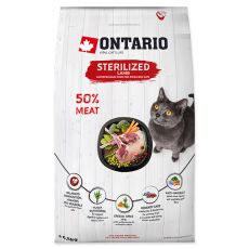 Ontario Cat Sterilised Lamb 6,5 kg