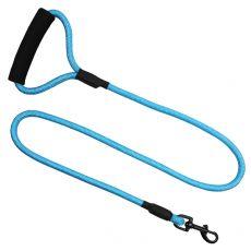 Runde Leine aus Nylon für Hunde, blau, XL - 120 cm