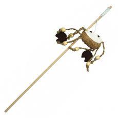 Katzenspielzeug - Krabbe auf einem Holzstab