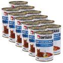 ONTARIO Dose für Katze - Rind, Lachs und Öl - 12 x 400 g