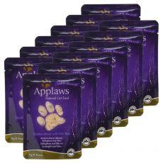 Feuchtnahrung APPLAWS Cat, Huhn und Wildreis 12 x 70g