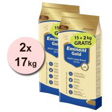 EMINENT GOLD Adult Large Breed 2 x 15 kg + 4 kg GRATIS