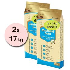 EMINENT GOLD Puppy Large Breed 2 x 15 kg + 4 kg GRATIS