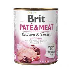 Feuchtnahrung Brit Paté & Meat PUPPY, 800 g