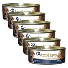 Feuchtnahrung APPLAWS dog Huhn, Lachs und Gemüse, 6 x 156g