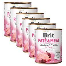 Feuchtnahrung Brit Paté & Meat PUPPY 6 x 800 g
