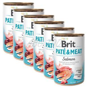 Nassfutter Brit Paté & Meat Salmon 6 x 400 g