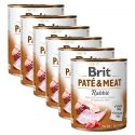 Nassfutter Brit Paté & Meat Rabbit 6 x 800 g