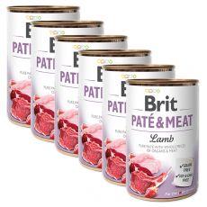 Feuchtnahrung Brit Paté & Meat Lamb 6 x 400 g