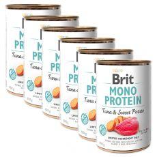 Dosenfutter Brit Mono Protein Tuna & Sweet Potato 6 x 400 g