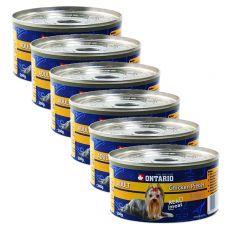 Feuchtnahrung ONTARIO Adult für Hunde, Huhn + Mägen, 6 x 200g