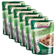 Stuzzy Speciality Dog - Huhn mit Schinken, 6 x 100 g