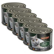 Feuchtnahrung für Katzen Leonardo, Ente 6 x 200 g