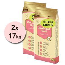 EMINENT GOLD Puppy 2 x 15 kg + 4 kg GRATIS
