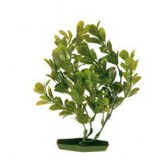 Aquariumpflanze aus Kunststoff - grüne Blätter, 17 cm