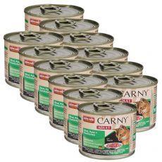 Feuchtfutter CARNY ADULT mit Rind, Pute und Kaninchen 12 x 200 g