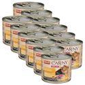 Feuchtfutter CARNY ADULT Rind, Huhn + Entenherzen 12 x 200 g