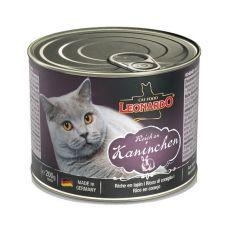 Dosenfutter für Katze Leonardo - Kaninchen 200g