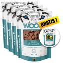 WOOLF Duck Chunkies 5 x 100g, 4+1 GRATIS
