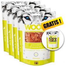 WOOLF Chicken Chunkies 5 x 100g, 4+1 GRATIS
