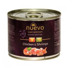 Feuchtnahrung NUEVO CAT Adult Chicken & Shrimps 200 g