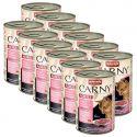 Feuchtnahrung CARNY ADULT Rind, Pute und und Shrimps 12 x 400 g