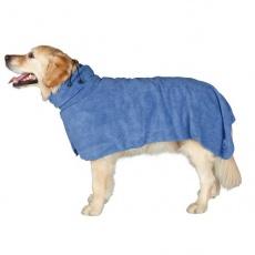 Bademantel für Hunde - blau - 50cm