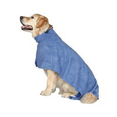 Bademantel für Hunde - blau - 40cm