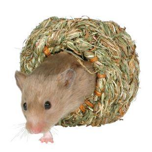 Häuschen für Nager, aus Gras - 16 cm