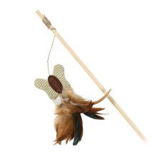 Spielzeug für Katze - Schmetterling auf dem Holzstängel