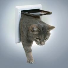 Türchen für Katzen mit zwei Positionen - weiß