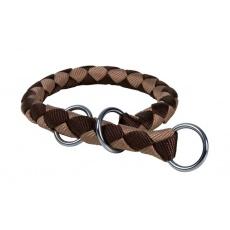 Würgehalsband für Hunde, braun - S - M, 35 - 41 cm