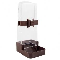 Spender zum Wasser oder Futter für Vögel, eckig, 200 ml