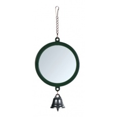 Spiegel mit Glöckchen für Vögel, 7 cm