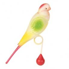 Spielzeug für Vögel- Zwergpapagei mit Kugel, 15 cm