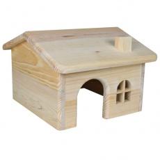 Häuschen für Nager, diagonales Dach - mittelgroß