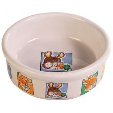 Napf aus Keramik mit Bildchen für Hasen - 300 ml