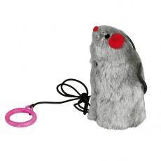 Spielzeug für Katze - Maus mit Gummi, mit dem Laut, 9 cm