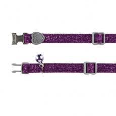 Halsband für Katzen, violet Flimmern - 18 - 30 cm