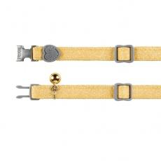 Halsband für Katzen, gelbe Flimmern, 18 - 30 cm
