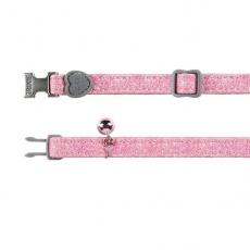 Halsband für Katzen, pink Flimmern - 18 - 30 cm