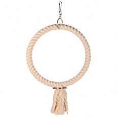 Spielzeug für Papagei - Ring aus Seil, 25 cm