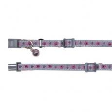 Halsband für Katzen, Reflex, pink Glöckchen - 15 - 20 cm